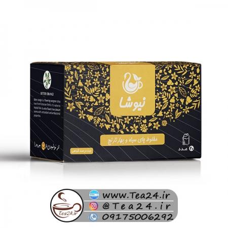 دمنوش چای سیاه و بهار نارنج نیوشا