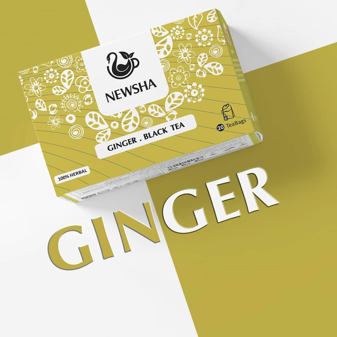newsha ginger herbaltea 3 - در دوران کرونا چه دمنوش هایی استفاده کنیم تا دستگاه تنفسی خود را تقویت کنیم؟