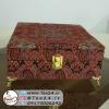 جعبه پذیرایی چوبی ترمه پنج قسمتی