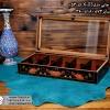 woody printable tea box 10parts 1 100x100 - جعبه پذیرایی چوبی چاپی درب شیشه ای 10 قسمتی
