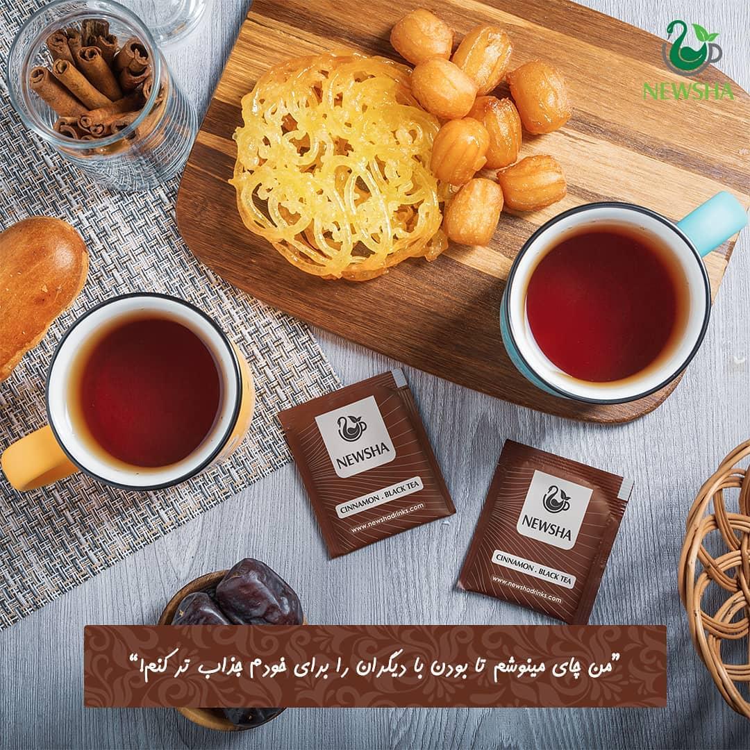 newsha cinnamon herbal tea 3 - آشنایی با گیاهان کاهش دهنده فشار خون